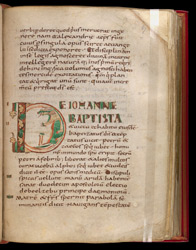 Inhabited Prologue Initial, In The Four Gospels